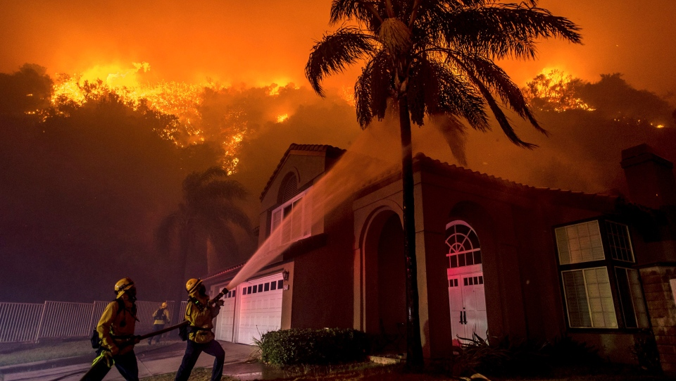 Crews Save Homes From Fire In California Canyons Ctv News
