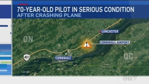 70-year-old pilot in serious condition after crash
