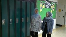 Ridgemont students Khawla Mesmous & Maryam Nabih.