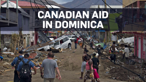 Canadian warship arrives with aid for Dominica