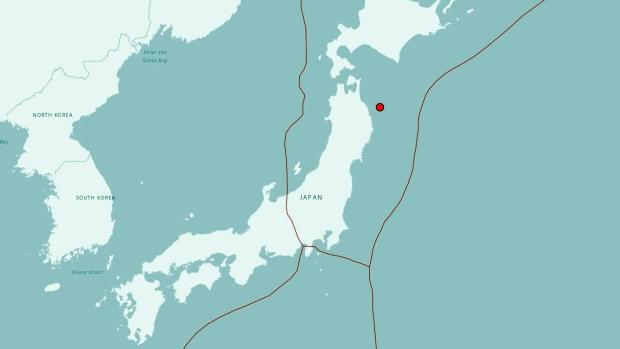 Strong Earthquake Shakes Northern Japan No Tsunami Risk CTV News - Japan map earthquake