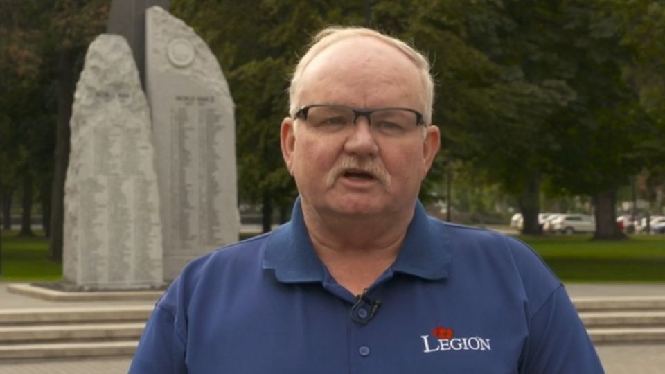 Glenn Hodge, former president of the Royal Canadian Legion's BC/Yukon Command, talks to CTV News on Tuesday, Sept. 26, 2017.