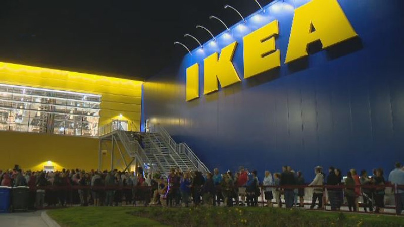 thousands line up in halifax as ikea opens first of 12 new canadian stores ctv news. Black Bedroom Furniture Sets. Home Design Ideas