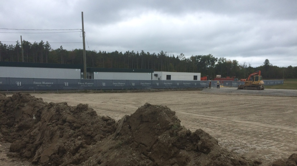 A temporary fire station is being built near Friday Harbour in Innisfil, Ont. to accommodate for growth. The location can be seen on Wednesday, Sept. 27, 2017. (Aileen Doyle/ CTV Barrie)