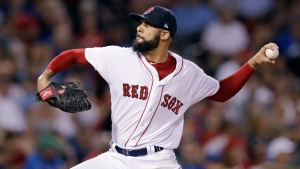Boston Red Sox pitcher David Price delivers during the sixth inning of a baseball game against the Toronto Blue Jays at Fenway Park in Boston, Wednesday, Sept. 27, 2017. (Charles Krupa/AP Photo)