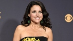 In this Sept. 17, 2017 file photo, Julia Louis-Dreyfus arrives at the 69th Primetime Emmy Awards in Los Angeles. Louis-Dreyfus says she has been diagnosed with breast cancer. (Photo by Richard Shotwell/Invision/AP, File)