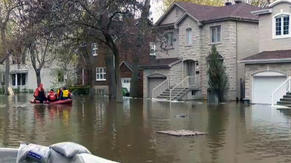 Low-lying areas in Pierrefonds were flooded in May 2017
