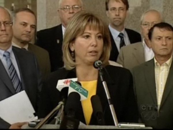 Surrey Mayor Diane Watts, along with other Metro Vancouver mayors, would like money from the B.C. carbon tax to go to TransLink. April 22, 2009.