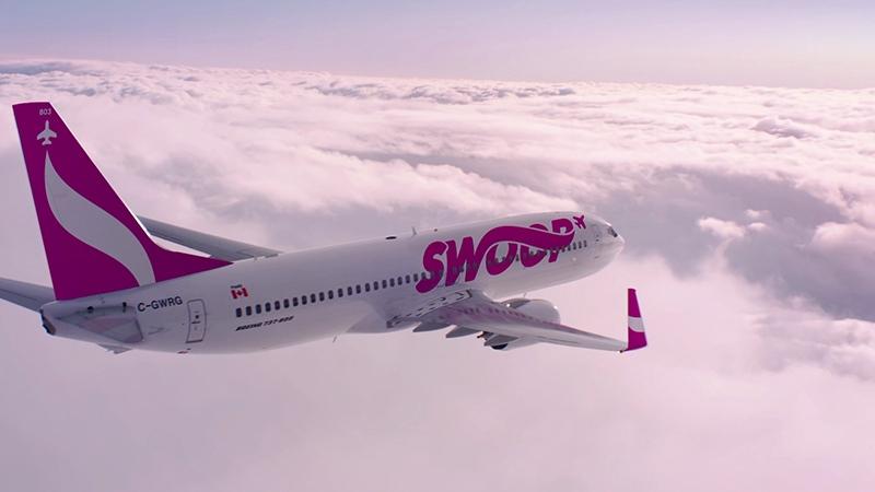 Swoop flights will begin operating in June.