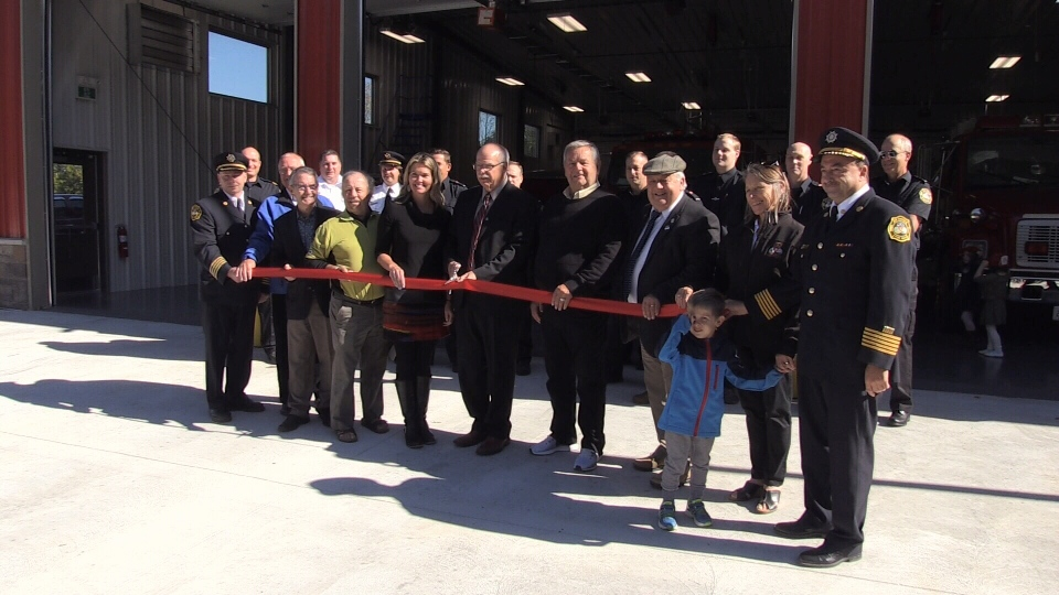 Officials were on hand for the grand opening of the new fire hall 2 in Tay Township on Sept. 30, 2017 (CTV Barrie)