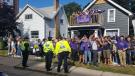 Police patrol homecoming parties at Wilfrid Laurier University. (Courtesy: Waterloo Regional Police)