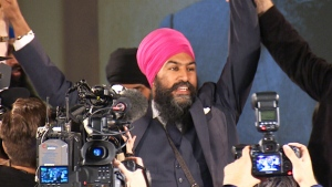 Jagmeet Singh will take over for Tom Mulcair and lead the NDP party into the next federal election. (CTV)