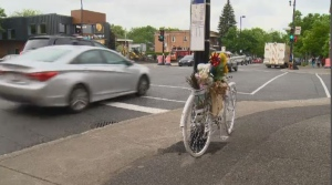 Ghost Bikes Montreal wants the city to do more to keep cyclists safe on city streets.