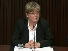 Dr. Arlene King, Ontario Medical Officer of Health, responds to questions on Thursday, April 23, 2009.