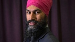 Jagmeet Singh poses for a photograph following the first ballot in the NDP leadership race in Toronto on Sunday, October 1, 2017. The New Democrats have tapped Ontario politician Jagmeet Singh to take over for Tom Mulcair and lead the embattled party into the next federal election. THE CANADIAN PRESS/Chris Young