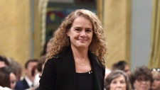 Governor General designate Julie Payette arrives at an Order of Canada investiture ceremony at Rideau Hall in Ottawa on Aug. 25, 2017. (Justin Tang / THE CANADIAN PRESS)