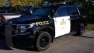 Damaged OPP cruiser in 401 collision on Sept. 30, 2017. (Supplied)