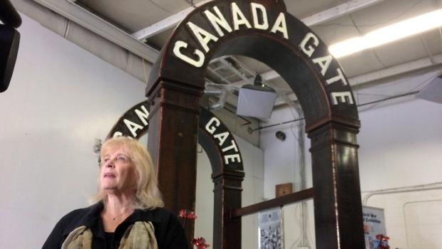 Canada Gate Passchendaele monument