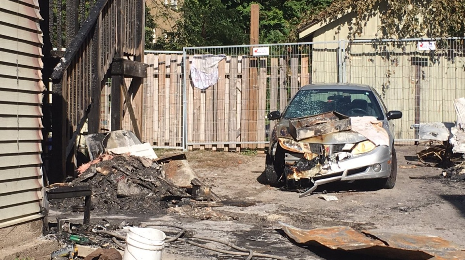 Barrie fire that leaves six people homeless, deemed suspicious on Oct 2, 2017