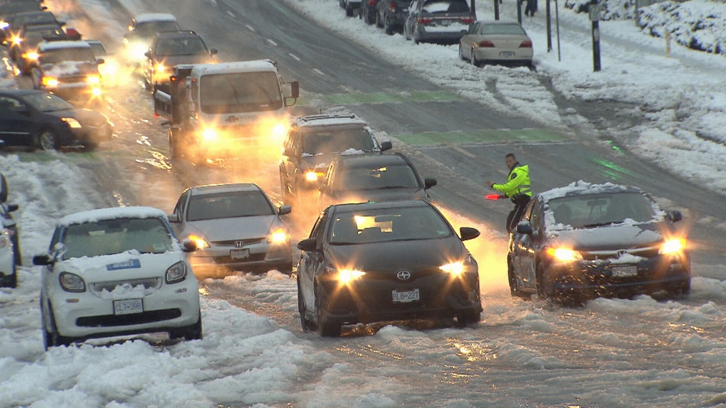 Winter driving in Vancouver