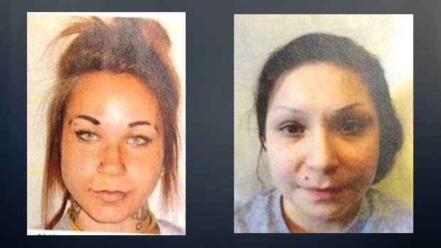 Kelsie Laine Mast, 23, and Samantha Faye Toope, 20, are shown in undated photos released by police. Supplied.