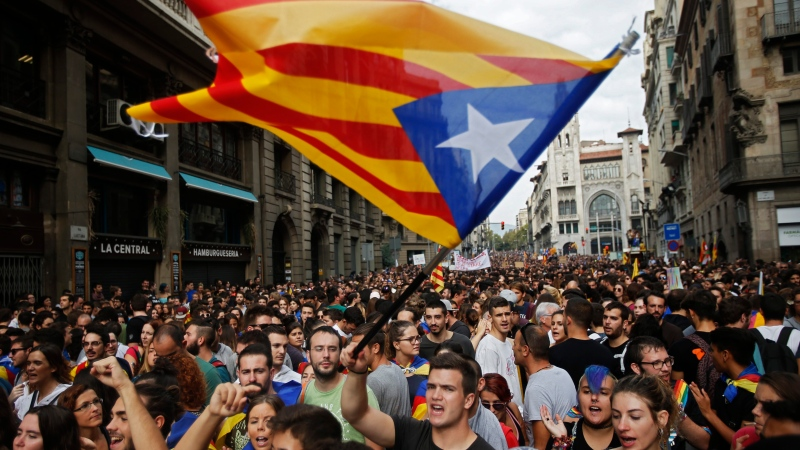 Catalan parliament says it won't act on vote results - for now