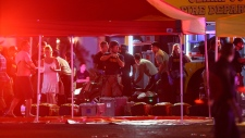 Medics treat the wounded in Las Vegas