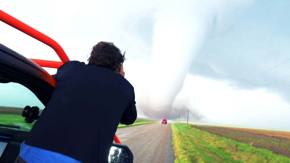 "Two storm chasers from Regina whom we had already filmed earlier in the summer had texted our producer with a proposal: ""How about we come down and hurricane chase?"" (W5's INTO THE EYE airs this Saturday at 7 p.m. ET)"