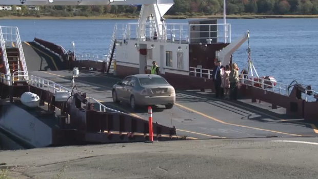 FILE - A ferry on the Saint John River in New Brunswick