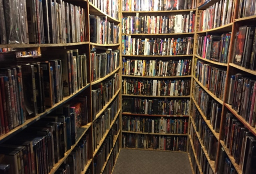 Malik currently has 17,300 VHS, DVD and Blu Rays stored in his basement movie library. (Source: Jon Hendricks/CTV)