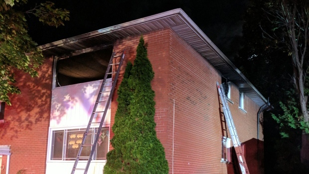 Clyde Avenue overnight fire on Wed. Oct. 4, 2017