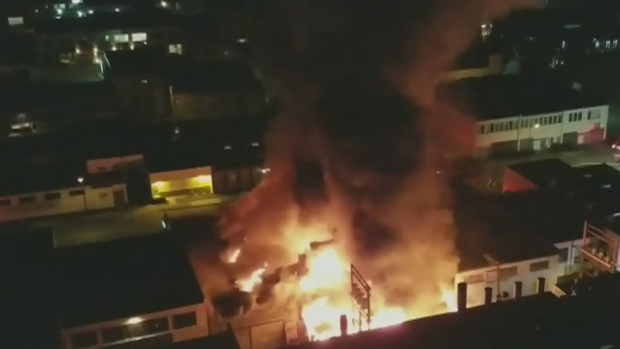 Firefighters say large fire 'under control' in Vancouver, 11 dogs rescued