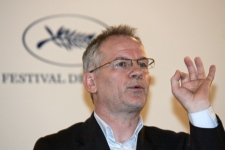 Artistic Director of the Cannes Film Festival Thierry Fremaux speaks during the presentation of the 62nd Cannes Film Festival, in Paris, Thursday, April 23, 2009. (AP / Francois Mori)