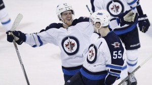 Last season, Ehlers (left) finished tied with Patrik Laine for third on the Jets in scoring with 64 points, behind only Mark Scheifele (right) and Blake Wheeler. (File image)