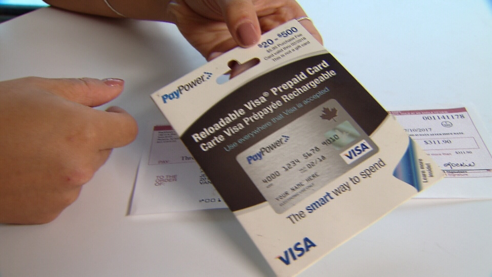 jessica liew shows the prepaid credit card she received as a gift ctv - Reloadable Prepaid Credit Cards