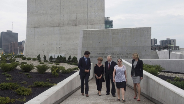 At the National Holocaust Monument in Ottawa