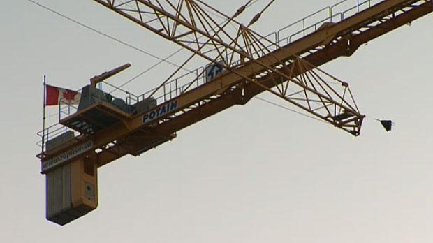 Crane climb