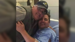 Jake Blackmore was treated in hospital after a grizzly bear attack near Fernie, B.C. on Saturday, Sept. 30, 2017.