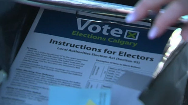 City officials say that advance vote numbers are way up in Calgary for this municipal election.