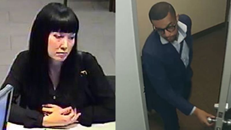 Woman, man wanted for allegedly taking $400,000 in bank fraud case