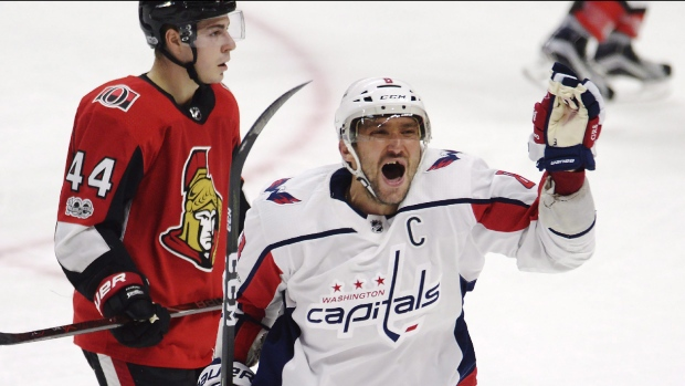 Washington Capitals left wing Alex Ovechkin