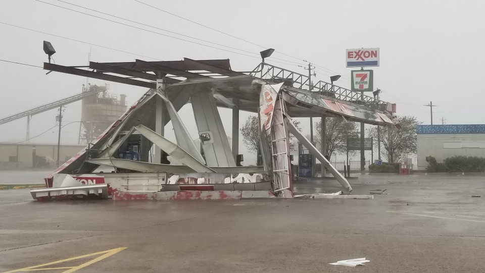 Some of the devastation caused by Hurricane Harvey in Victoria, Texas (Paul Haber / W5)