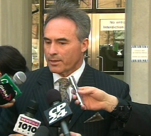 Toronto Police Det.-Sgt. Savas Kyriacou from the Homicide Squad speaks to reporters outside of the courthouse in Toronto, Friday, April 24, 2009.