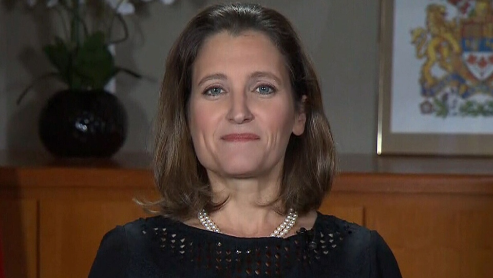 Foreign Affairs Minister Chrystia Freeland on CTV's Question Period.