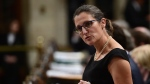 Minister of Foreign Affairs Chrystia Freeland stands during question period in the House of Commons on Parliament Hill in Ottawa on Thursday, Oct. 5, 2017. THE CANADIAN PRESS/Sean Kilpatrick