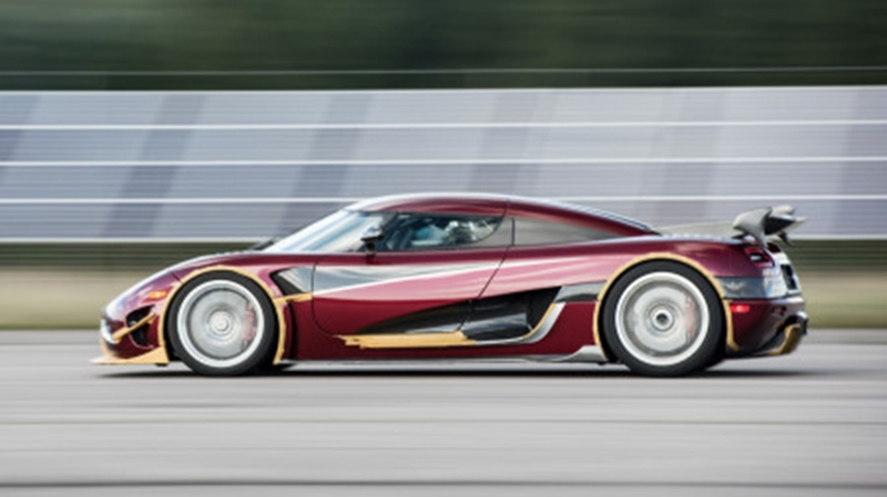 The Koenigsegg Agera RS during its record-breaking run on the Vandel Airfield in Denmark. (Koenigsegg Automotive)