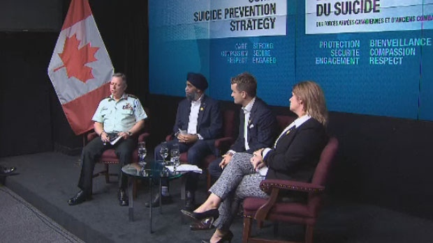 The federal government announced a strategy to reduce the number of suicides within the armed forces with a new program, Friday Oct. 6, 2017.