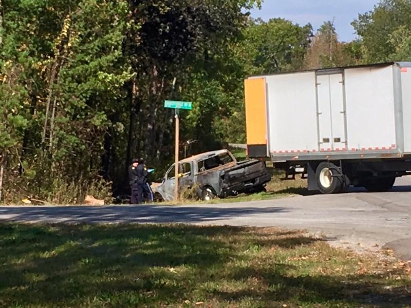OPP investigate a crash in Norfolk County on Saturday, Oct. 7, 2017. (Tina Yazdani / CTV Kitchener)