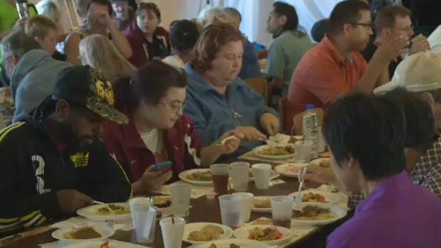 Souls Harbour Rescue Mission served a hot Thanksgiving meal to as many as 400 people, Saturday, Oct. 7, 2017.