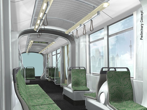 Artist's rendition of the inside of the new TTC street to be built by Bombardier.